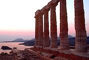 GREECE, HISTORIC SITES Cape Sounion Poseidon Temple 444BC