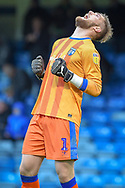 Gillingham FC goalkeeper Tomas Holy (1) celebrates at the final whistle  EFL Sky Bet League 1 match between Gillingham and Bradford City at the MEMS Priestfield Stadium, Gillingham, England on 27 October 2018.