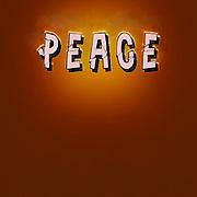 Digitally enhanced PEACE text