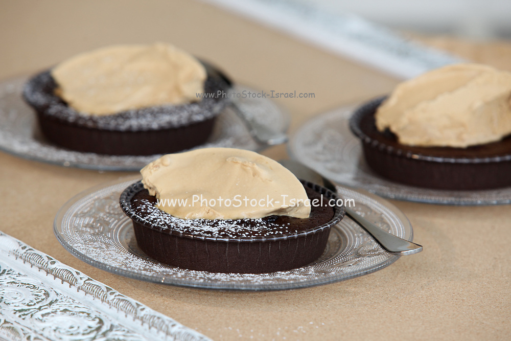 Chocolate cake with Ice cream indevidual servings