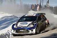 MOTORSPORT - WRC 2010 - RALLY SWEDEN - KARLSTAD (SWE) - 11 to 14/02/2010 - PHOTO : FRANCOIS BAUDIN / DPPI<br /> ANDREAS MIKKELSEN (NOR) / OLA FLOENE (NOR) - FORD FIESTA S2000 - ACTION