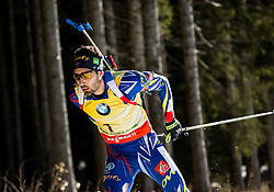 Martin Fourcade (FRA)  during Men 15 km Mass Start at day 4 of IBU Biathlon World Cup 2015/16 Pokljuka, on December 20, 2015 in Rudno polje, Pokljuka, Slovenia. Photo by Vid Ponikvar / Sportida
