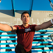 Fitness Life: Gabriel Galdamez.  Lifestyle photoshoot with Fitness trainer, Gabriel Galdamez in San Francisco, California on May 1st, 2017.  ©Michael Der, All Rights Reserved.  Please contact Michael Der for all licensing requests.