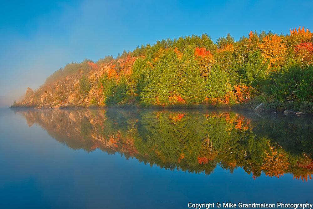 Autumn. Lake Laurentian Conservation Area.<br />Sudbury<br />Ontario<br />Canada