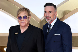 Sir Elton John and David Furnish attending the Kingsman: The Golden Circle World Premiere held at Odeon and Cineworld Cinemas, Leicester Square, London. Picture date: Monday 18th September 2017. Photo credit should read: Doug Peters/Empics Entertainment