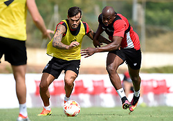 Arnold Garita of Bristol City tussles for the ball with Marlon Pack of Bristol City  - Mandatory by-line: Joe Meredith/JMP - 19/07/2016 - FOOTBALL - Bristol City pre-season training camp, La Manga, Murcia, Spain