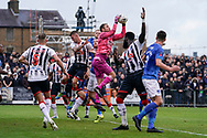 Carl Pentney of Maidenhead United makes a save during the The FA Cup 1st round match between Maidenhead United and Portsmouth at York Road, Maidenhead, United Kingdom on 10 November 2018.