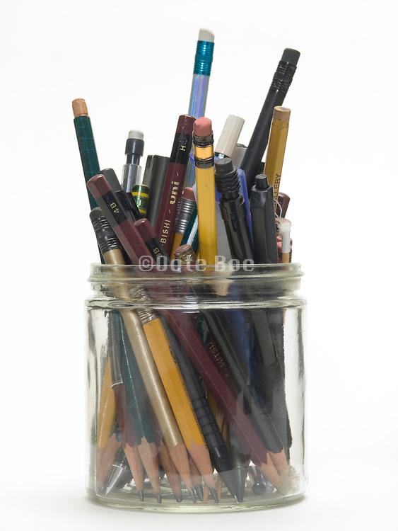 assortment of various type of pencils