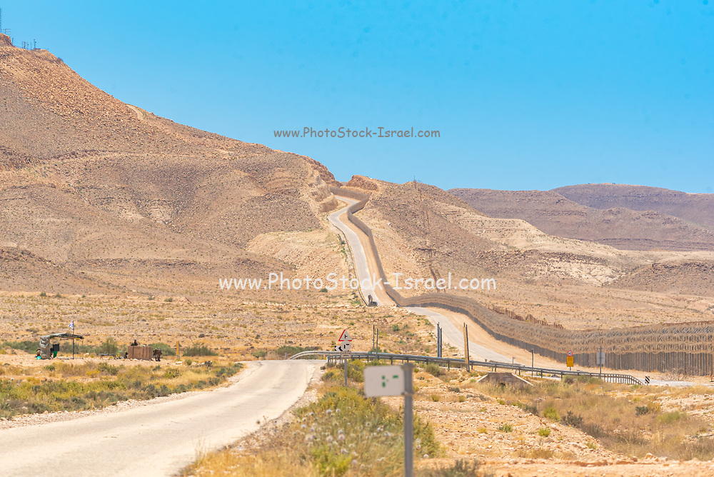 Route 10 along the Egyptian -Peaceful and tranquil along the Israeli border. Looking into Egypt from Israel