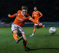 Blackpool's Connor Ronan crosses the ball<br /> <br /> Photographer Lee Parker/CameraSport<br /> <br /> The EFL Sky Bet League One - Wycombe Wanderers v Blackpool - Tuesday 28th January 2020 - Adams Park - Wycombe<br /> <br /> World Copyright © 2020 CameraSport. All rights reserved. 43 Linden Ave. Countesthorpe. Leicester. England. LE8 5PG - Tel: +44 (0) 116 277 4147 - admin@camerasport.com - www.camerasport.com