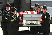The remains of Sgt. Sam Kelsey  of Troup arrive at Pounds Regional Airport in Tyler on Thursday December 20,2007.Sgt.Kelsey died when an IDE exploded as he made his way to aid one of his soldiers in Tunis Iraq. Photo: Jaime R. Carrero/Tyler Morning Telegraph