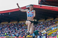 Yelena Sokolova (Authorised Neutral Athlete), Women's Long Jump, during the Muller Grand Prix at the Alexander Stadium, Birmingham, United Kingdom on 18 August 2019.