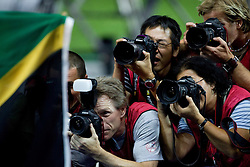 Infield photographers during day five of the 12th IAAF World Athletics Championships at the Olympic Stadium on August 19, 2009 in Berlin, Germany. (Photo by Vid Ponikvar / Sportida)