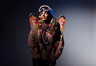 Moguls skier Michelle Roark poses for a portrait at the 2010 United States Olympic Team Media Summit in Chicago on September 10, 2009.  (UPI)