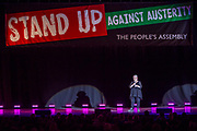 Jo Brand. The Peoples Assembly  presents: Stand Up Against Austerity. Live at the Hammersmith Apollo. London.
