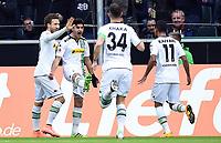 Fotball<br /> Tyskland<br /> 20.02.2016<br /> Foto: Witters/Digitalsport<br /> NORWAY ONLY<br /> <br /> 1:0 Jubel v.l. Fabian Johnson, Torschuetze Mahmoud Dahoud (Gladbach)<br /> <br /> Hamburg, 20.02.2016, Fussball Bundesliga, Borussia Mönchengladbach - 1. FC Köln