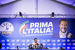 Italy, Milan - May 27, 2019.Matteo Salvini of right-wing populist League party triumphs in European elections, taking nearly 35 per cent of Italian vote  .Press conference (Credit Image: © De Grandis/Fotogramma/Ropi via ZUMA Press)
