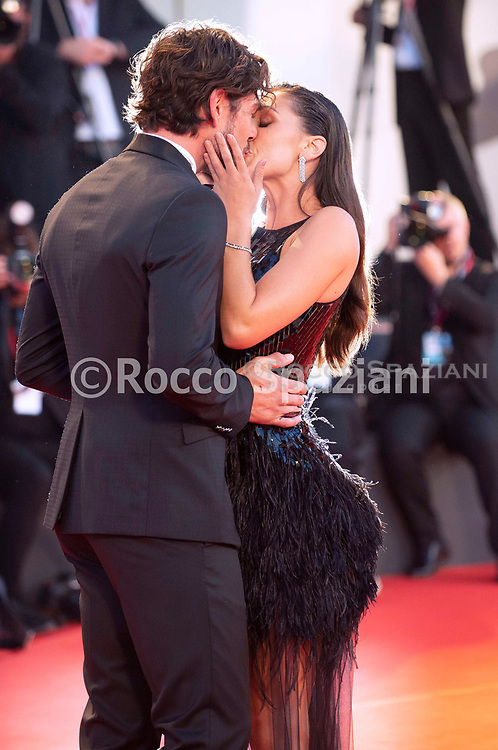 """VENICE, ITALY - SEPTEMBER 03: Cecilia Rodríguez and Ignazio Moser walk the red carpet ahead of the """"Om Det Oandliga"""" (About Endlessness) screening during the 76th Venice Film Festival at Sala Grande on September 03, 2019 in Venice, Italy."""