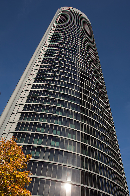 """CTBA, Spanish for """"Four Towers Business Area"""", is a business district located in the Paseo de la Castellana in Madrid, Spain, on the former Ciudad Deportiva of Real Madrid. The area contains the tallest skyscrapers in Spain, and some of the highest in the European Union: the Torre Espacio, Torre de Cristal, Torre PwC and Torre Cepsa. Construction of the buildings finished in 2008. Now, a fifth tower, Calieido, is under construction."""