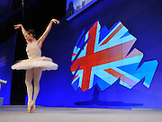 © Licensed to London News Pictures. 03/10/2011. MANCHESTER. UK. Senior Principal Dancer at The English National Ballet, Elena Glurdjidze, performs at The Conservative Party Conference at Manchester Central today, October 3, 2011. Photo credit:  Stephen Simpson/LNP