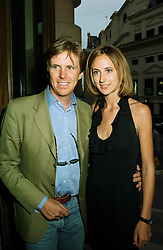 LADY VICTORIA HERVEY and MR MOGENS THOLSTRUP at a party in London on 9th June 1997.LZC 43