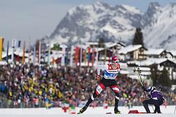 February 21, 2019 - Seefeld In Tirol, AUSTRIA - 190221 Luis Stadlober of Austria competes in men's cross-country skiing sprint qualification during the FIS Nordic World Ski Championships on February 21, 2019 in Seefeld in Tirol..Photo: Joel Marklund / BILDBYRÃ…N / kod JM / 87880 (Credit Image: © Joel Marklund/Bildbyran via ZUMA Press)