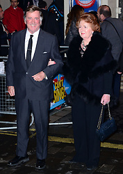 Sir Terry Wogan with Lady Helen Wogan attends the press night performance of 'I Can't Sing! The X Factor Musical' at the London Palladium, London, United Kingdom. Wednesday, 26th March 2014. Picture by Nils Jorgensen / i-Images