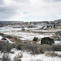 View from Highway 602 overlooking the Gallup Sports Complex, Wednesday, Feb. 6.