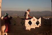 A man in one of the erraces of Madalay Hill, Mandalay, Burma.<br /> Note: These images are not distributed or sold in Portugal