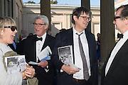 LINDSAY MACKIE; ALAN RUSBRIDGER; JEREMY PAXMAN; BRUCE PALLING, Opening of Grange Park Opera, Fiddler on the Roof, Grange Park Opera, Bishop's Sutton, <br /> Alresford, 4 June 2015
