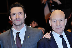 Hugh Jackman and Patrick Stewart attending the Logan Premiere during the 67th Berlin International Film Festival (Berlinale) in Berlin, Germany on Februay 17, 2017. Photo by Aurore Marechal/ABACAPRESS.COM