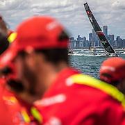 Leg 4, Melbourne to Hong Kong, day 01 on board MAPFRE, Leg start. Photo by Ugo Fonolla/Volvo Ocean Race. 02 January, 2018.