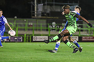 Forest Green Rovers Destiny Oladipo(39) shoots at goal during the FA Youth Cup match between Forest Green Rovers and Helston Athletic at the New Lawn, Forest Green, United Kingdom on 29 October 2019.