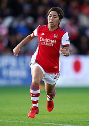 Arsenal's Mana Iwabuchi in action during the FA Women's Super League match at Meadow Park, Borehamwood. Picture date: Sunday October 10, 2021.
