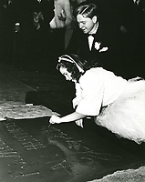 1939 Judy Garland's handprint ceremony at Grauman's Chinese Theater