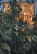 The Black House' (detail), 1904-1906.  Paul Cezanne (1839-1906) French painter.