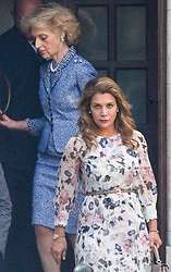 © Licensed to London News Pictures. 31/07/2019. London, UK. Princess Haya Bint Al Hussein (R) leaves the High Court in London  accompanied by her lawyer lawyer Fiona Shackleton where she is currently in dispute with her husband, Sheik Mohammed bin Rashid Al Maktoum, following the breakdown of their marriage.  Photo credit: George Cracknell Wright/LNP