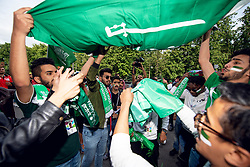 June 14, 2018 - Moscow, Russia - 180614 Fans of Saudi Arabia during the FIFA World Cup group stage match between Russia and Saudi Arabia on June 14, 2018 in Moscow..Photo: Petter Arvidson / BILDBYRN / kod PA / 92065 (Credit Image: © Petter Arvidson/Bildbyran via ZUMA Press)