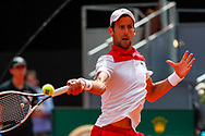 Novak Djokovic of Serbia in action during the Mutua Madrid Open 2018, tennis match on May 9, 2018 played at Caja Magica in Madrid, Spain - Photo Oscar J Barroso / SpainProSportsImages / DPPI / ProSportsImages / DPPI