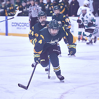 1st year forward, Jenna Merk (4) of the Regina Cougars during the Women's Hockey Away Game on Fri Jan 11 at University of Saskatoon. Credit: Arthur Ward/Arthur Images