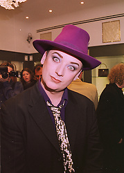 Singer BOY GEORGE, at a party in London on 22nd April 1998.MGX 35