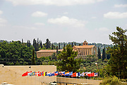Israel, Ayalon Valley, Exterior of the Latrun Trappist Monastery. founded in In the year 1887 by French monks of the Trappist order. The monks established a successful vineyard and today produce a variety of wines.
