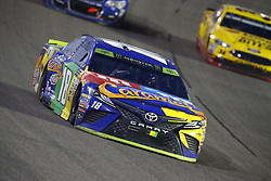 November 19, 2017 - Homestead, Florida, United States of America - November 19, 2017 - Homestead, Florida, USA: Kyle Busch (18) brings his car through the turns during the Ford EcoBoost 400 at Homestead-Miami Speedway in Homestead, Florida. (Credit Image: © Chris Owens Asp Inc/ASP via ZUMA Wire)