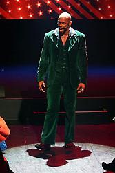 19.02.2015, Palladium Theater, Stuttgart, GER, Musical Rocky, Pressekonferenz, im Bild Gino Emnes (Apollo Darsteller in Rocky) bei einem Kurzauftritt // during a press conference of the musical Rocky at Palladium Theater in Stuttgart, Germany on 2015/02/19. EXPA Pictures © 2015, PhotoCredit: EXPA/ Eibner-Pressefoto/ Hofer<br /> <br /> *****ATTENTION - OUT of GER*****