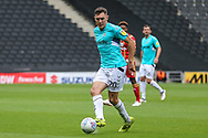 Forest Green Rovers Paul Digby(20) passes the ball forward during the EFL Sky Bet League 2 match between Milton Keynes Dons and Forest Green Rovers at stadium:mk, Milton Keynes, England on 15 September 2018.