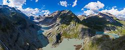 THEMENBILD - Die Pasterze ist mit etwas mehr als 8 km Länge der größte Gletscher Österreichs und der längste der Ostalpen. Seit 1856 hat ihre Fläche von damals über 30 km² um beinahe die Hälfte abgenommen. Hier im Bild Panoramaansicht der Pasterze mit Gletschersee, links der Grossglockner 3798m rechts Grossglockner Hochalpenstrasse mit Kaiser Franz Josefs Höhe. Heiligenblut, Österreich am Freitag 21. August 2020 // With a length of just over 8 km, the Pasterze is the largest glacier in Austria and the longest in the Eastern Alps. Since 1856, its area has decreased by almost half from then 30 km². Picture shows Panorama view of the Pasterze glacier with glacier lake, on the left the Grossglockner summit 3798m and on the right the Grossglockner High Alpine Road with Kaiser Franz Josefs Hoehe. Heiligenblut, Austria on Friday August 21, 2020. EXPA Pictures © 2020, PhotoCredit: EXPA/ Johann Groder<br /> <br /> ***** ACHTUNG - dieses Bilddatei ist für den Grossformatdruck in einer maximalen Grösse mit mehr als 15000 x 5900 pixel (ca. 400 MB) verfügbar! Fragen Sie nach den hochauflösenden Daten // ATTENTION - This image file is for Large Format Printing available in a maximum size of more then 15000 x 5900 pixels (about 400 MB)! Ask for the high-resolution data. *****