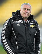 Hurricanes coach Chris Boyd prior to kick off during the round 13 Super Rugby match. Hurricanes v Sharks. Westpac Stadium, Wellington. 9th May 2015. Copyright Photo.: Grant Down / www.photosport.co.nz