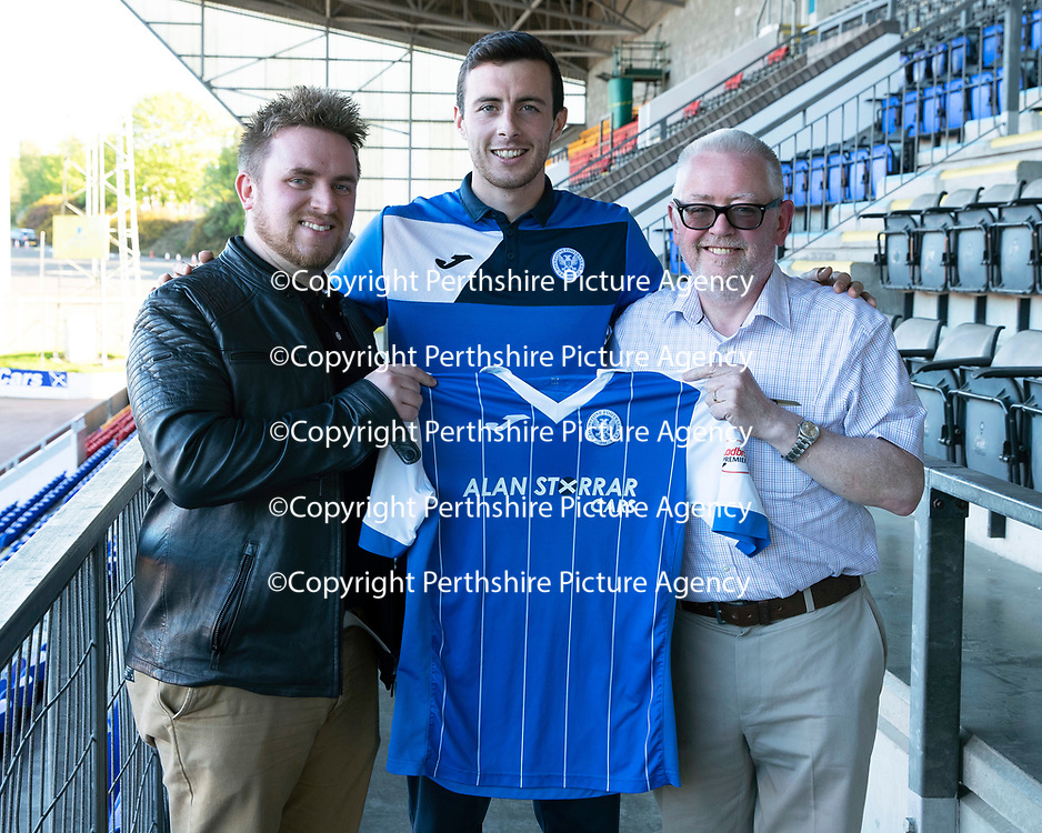St Johnstone Players Sponsors Night…10.05.18<br />Joe Shaughnessy<br />Picture by Graeme Hart.<br />Copyright Perthshire Picture Agency<br />Tel: 01738 623350  Mobile: 07990 594431