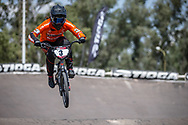 #3 (BAAUW Judy) NED during practice at round 1 of the 2018 UCI BMX Supercross World Cup in Santiago del Estero, Argentina.