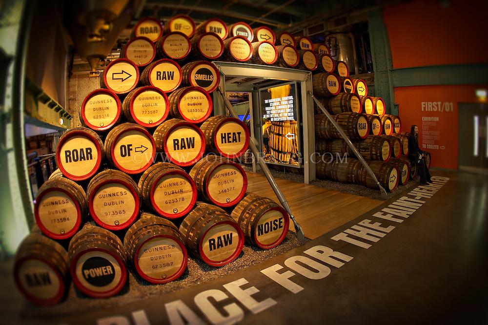 The Guinness Storehouse in Dublin, Ireland